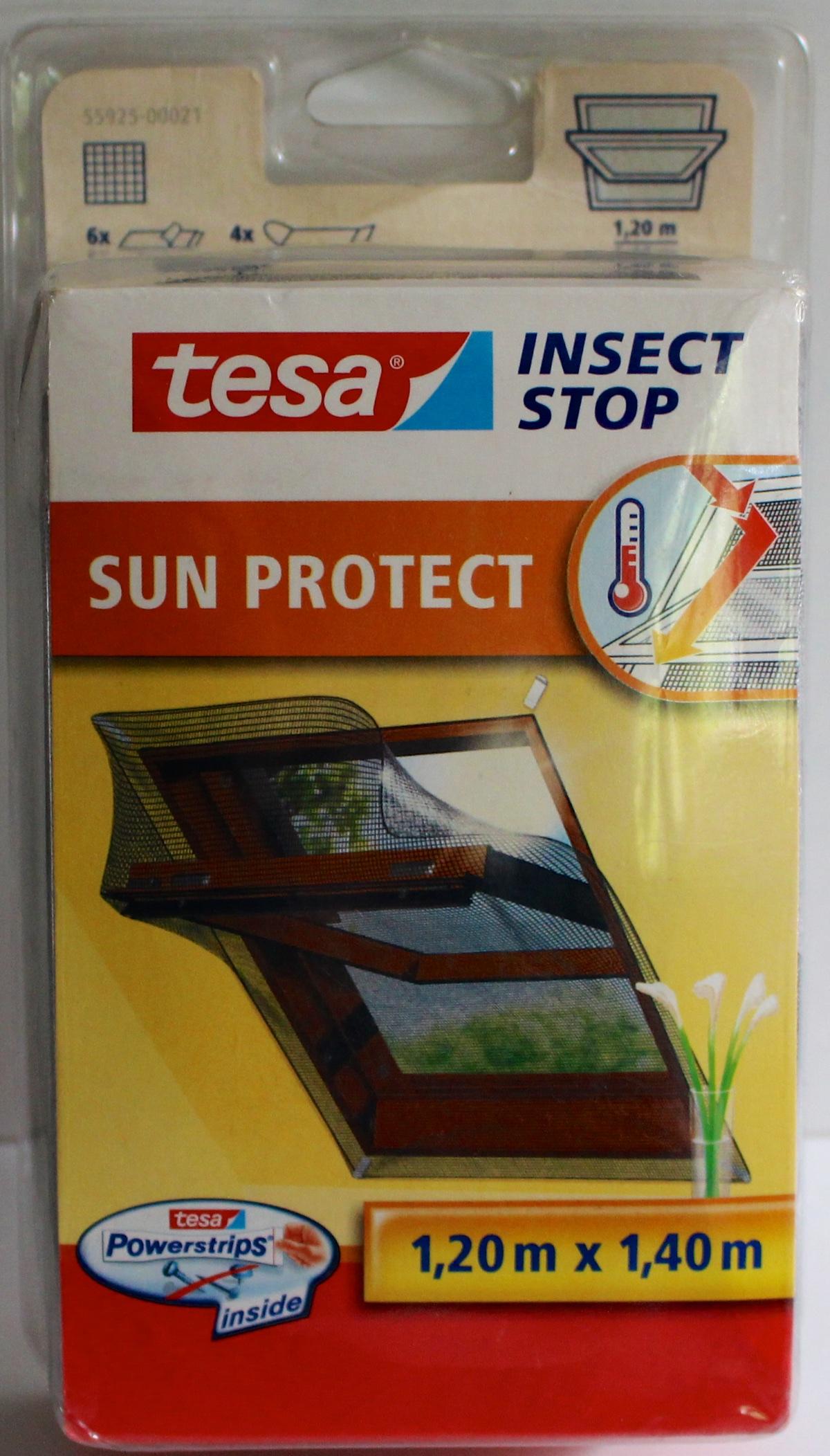tesa sun protect dachfenster 1 20 x 1 40m sonnenschutz fliegengitter insect stop ebay. Black Bedroom Furniture Sets. Home Design Ideas